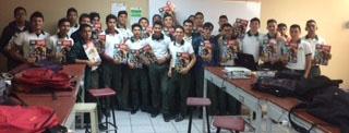 Entrega Secretaría de Educación y Cultura a los alumnos de CONALEP SLRC  una