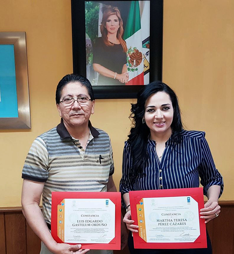 CONALEP Guaymas recibe constancia de participación en los cursos del programa Construye  T.