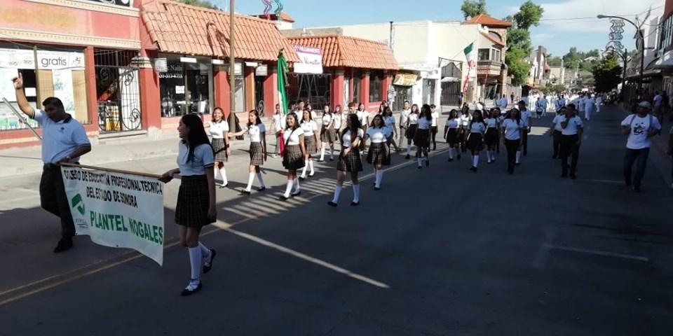 Conalep Nogales, presente en el Desfile 16 de Septiembre