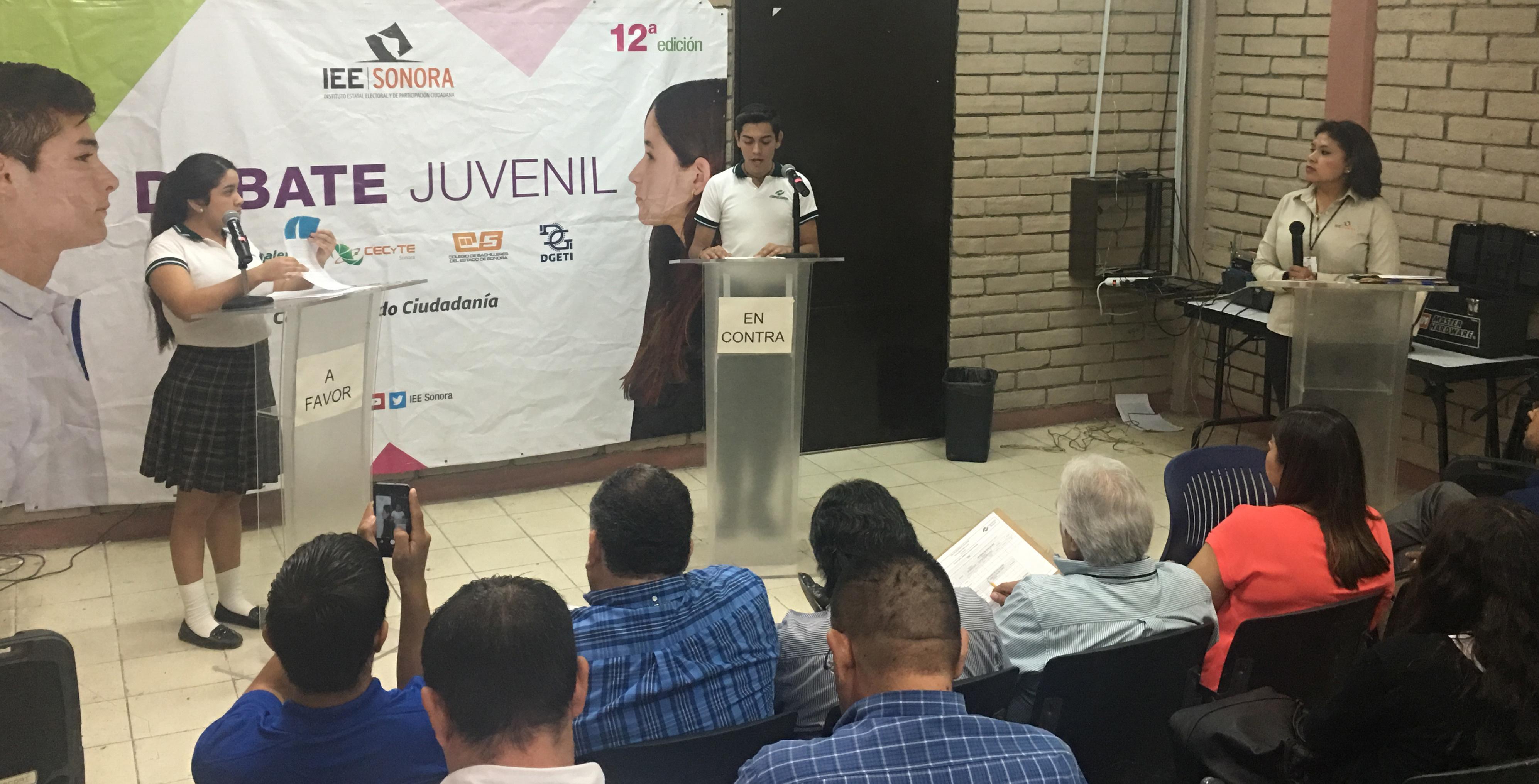 Alumnos del plantel #ConalepHermosillo1 participaron en la 12ª Edición del Debate Juvenil del #IEESonora