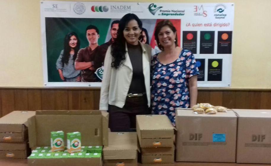 Dona difguaymas despensas a el 1er comedor estudiantil for Comedor estudiantil